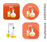 laboratory tubes icon  ... | Shutterstock .eps vector #1039435501