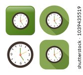 clock icon   vector clock symbol | Shutterstock .eps vector #1039435519