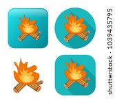 fire wood icon   campfire... | Shutterstock .eps vector #1039435795