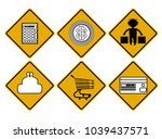 six stylized traffic signs for... | Shutterstock .eps vector #1039437571