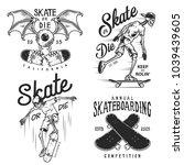 set of skateboarding emblems in ...   Shutterstock .eps vector #1039439605