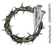 crown of thorns  nails  easter... | Shutterstock .eps vector #1039440574
