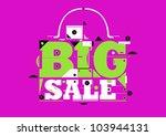 big sale promo poster | Shutterstock .eps vector #103944131