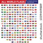 flags of the world set vector... | Shutterstock .eps vector #1039449889