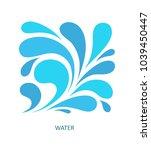 water wave logo abstract design.... | Shutterstock .eps vector #1039450447