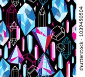 beautiful seamless pattern with ... | Shutterstock .eps vector #1039450504