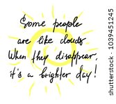some people are like clouds ... | Shutterstock .eps vector #1039451245
