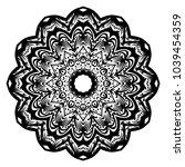 vector mandala. flower modern... | Shutterstock .eps vector #1039454359