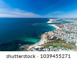 aerial drone shot over newport...   Shutterstock . vector #1039455271