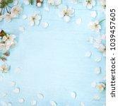beautiful spring nature... | Shutterstock . vector #1039457605