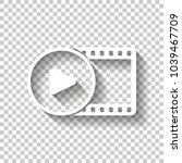 movie strip with play symbol in ... | Shutterstock .eps vector #1039467709