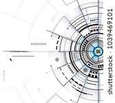 technology composition design...   Shutterstock . vector #1039469101