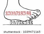 impatience vs patient waiting... | Shutterstock . vector #1039471165