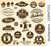 bakery labels retro style... | Shutterstock .eps vector #103947221