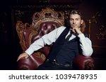 imposing well dressed man ...   Shutterstock . vector #1039478935