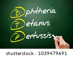 dtp   diphtheria tetanus... | Shutterstock . vector #1039479691