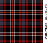 Seamless Plaid Pattern In Blac...