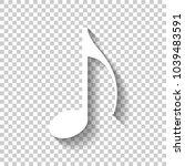 music note icon. white icon...
