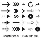 collection arrow silhouette on... | Shutterstock .eps vector #1039484401