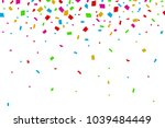 colorful confetti falling on... | Shutterstock .eps vector #1039484449
