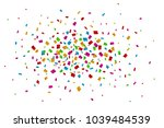 colorful confetti falling on... | Shutterstock .eps vector #1039484539