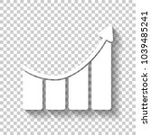 growing bars graphic with...   Shutterstock .eps vector #1039485241