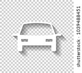 car icon. white icon with... | Shutterstock .eps vector #1039488451