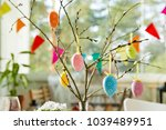 beautiful served round table... | Shutterstock . vector #1039489951