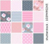 beautiful seamless patchwork...   Shutterstock .eps vector #1039490245