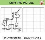 funny little unicorn. copy the... | Shutterstock .eps vector #1039491451