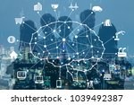 business and ai artificial... | Shutterstock . vector #1039492387