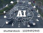 ai  aritificial intelligence ... | Shutterstock . vector #1039492945