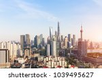 shanghai skyline and cityscape | Shutterstock . vector #1039495627