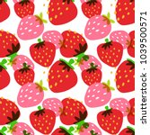 seamless pattern with... | Shutterstock .eps vector #1039500571