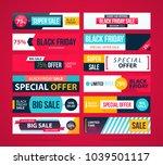 big set of black friday web... | Shutterstock .eps vector #1039501117