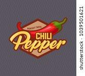 chilli pepper logo for food... | Shutterstock .eps vector #1039501621