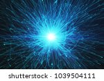 abstract glowing burst... | Shutterstock . vector #1039504111