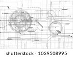 hi tech digital circuit grid... | Shutterstock . vector #1039508995