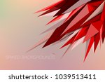 red color spiked vector... | Shutterstock .eps vector #1039513411