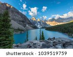 sunrise at rocky mountains ... | Shutterstock . vector #1039519759