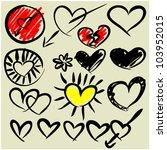 art sketching set of vector... | Shutterstock .eps vector #103952015