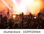 crowd at concert   summer music ... | Shutterstock . vector #1039520464