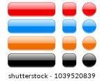 glass buttons. set of shiny 3d... | Shutterstock .eps vector #1039520839