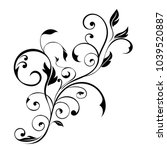 floral decorative ornament.... | Shutterstock .eps vector #1039520887