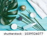 cream  health  towel            ... | Shutterstock . vector #1039526077