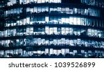 windows of skyscraper business... | Shutterstock . vector #1039526899