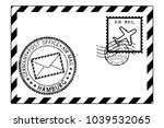 envelope black icon with... | Shutterstock . vector #1039532065