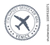 black stamp with venice  italy... | Shutterstock . vector #1039532071