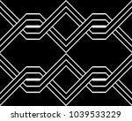design seamless monochrome... | Shutterstock .eps vector #1039533229