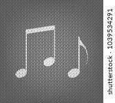music notes sign. vector. white ... | Shutterstock .eps vector #1039534291